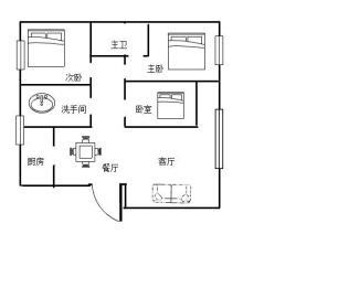 南华花园南华小区  3室2厅2卫    54.8万