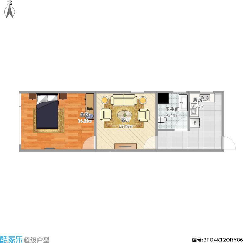 保利国际广场  1室1厅1卫    2800.0元/月