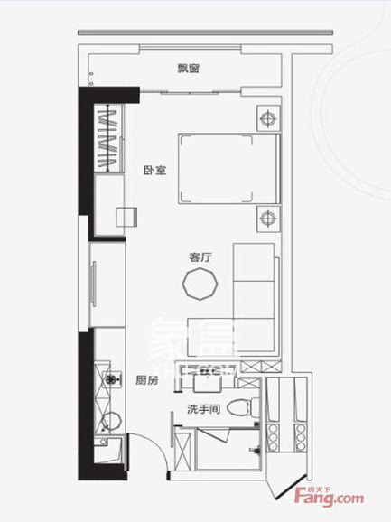 保利国际广场  1室1厅1卫    8000.0元/月