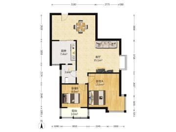 双维花溪湾(一、二期)  2室2厅1卫    140.0万
