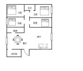 万鸿鑫城  4室2厅2卫    120.0万