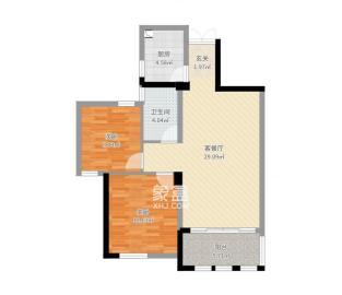 泰山公馆  2室2厅1卫    2000.0元/月