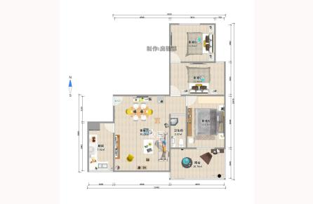 单价9字头,莱茵城 3室2厅1卫 106平 103万