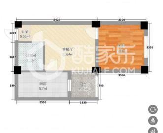 欢乐美寓  2室1厅1卫    52.8万