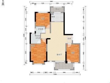 火车站鸿兴楼  3室2厅1卫    1600.0元/月