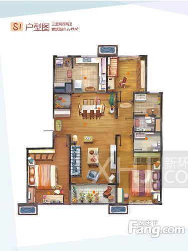 东门尚苑  3室2厅2卫    120.0万