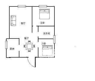 新桂都  2室2厅1卫    68.0万
