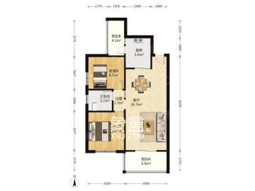 谋房博客(博客天街)  3室2厅1卫    2400.0元/月