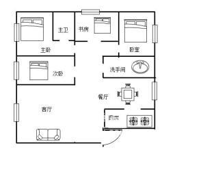 北汽佳兆业金域天下 4室2厅2卫 精装居家