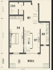 世纪桃花苑  2室2厅1卫    1900.0元/月