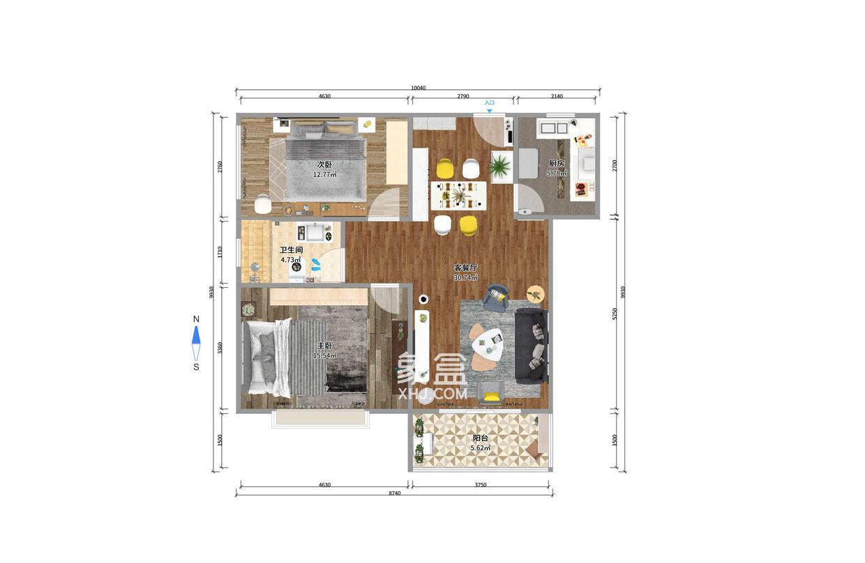 诚心出售 泉塘繁华地段 昌和国际 居家两房 中间楼层
