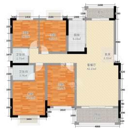 紫苑花园  4室2厅2卫    105.0万