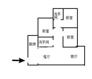 四中景弘旁边电梯居家大三房楼层好视野佳