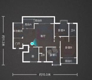 时代尊城  3室2厅2卫    325.0万