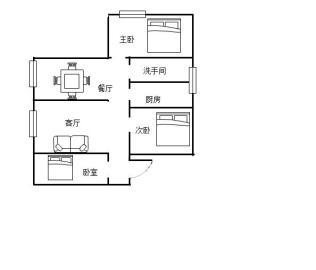 市中心 神龙公园 小城故事精装三房 舒适居家 生活居家