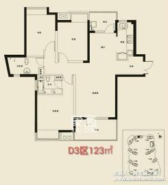 北辰三角洲  3室2厅2卫    210.0万