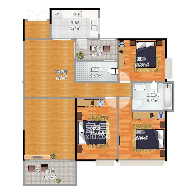 金侨城  3室1厅1卫    1600.0元/月