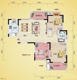 中建麓山和苑  3室2廳1衛    110.0萬