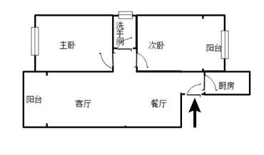 华润万家 金域半岛一期 电梯精装大两房 仅售68.8万