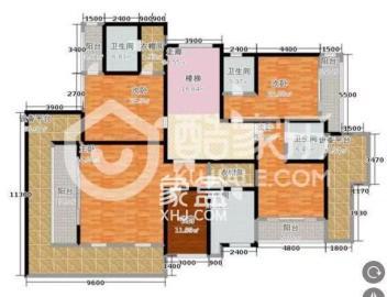 格兰小镇(格澜郡)  4室2厅2卫    550.0万