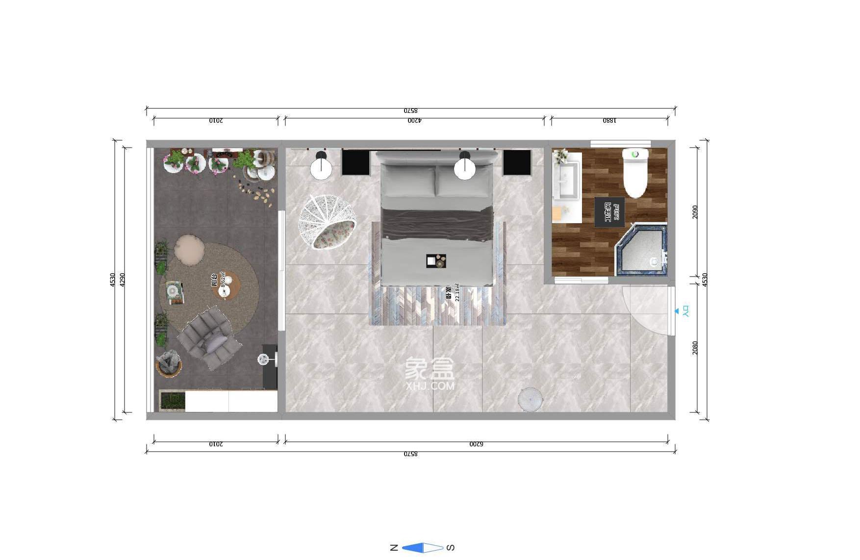 觀湖公寓  1室1廳1衛    52.0萬