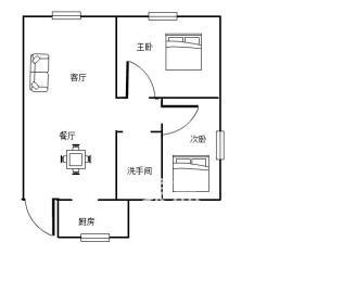 城南星座  2室2厅1卫    51.8万