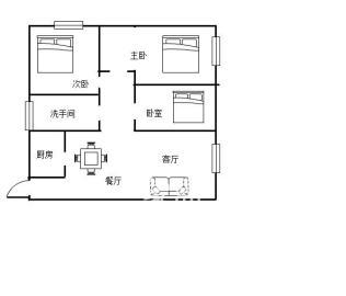 曼哈顿对面精装修结婚三房房龄才3年2015年小区