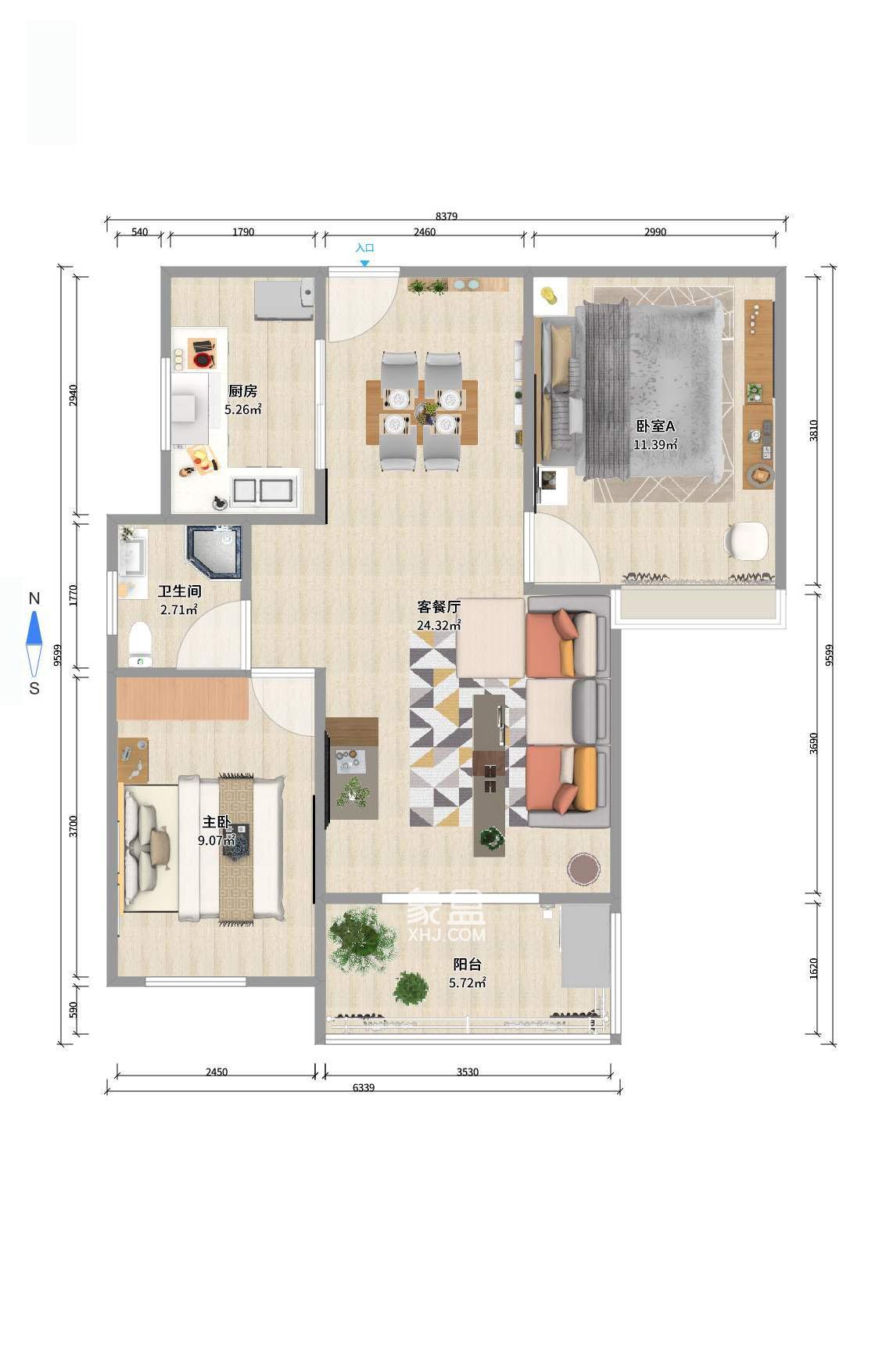 怡海星城 15樓 帶地暖 怡雅中小學 不靠馬路 居家裝修