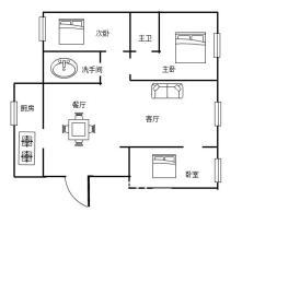 山水文园  3室2厅2卫    95.0万
