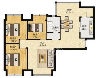 中信城佐岸  3室1厅1卫    125.0万
