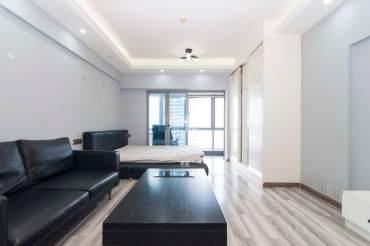 保利国际对面,不限购单身公寓,带家电,租金抵月供