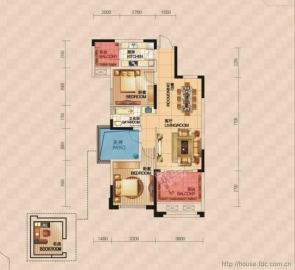 新世纪花园  3室2厅2卫    83.8万