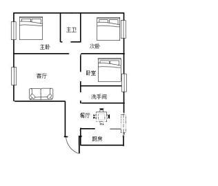 凯风珑城  3室2厅2卫    110.0万