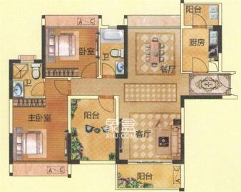 望兴家园  3室2厅1卫    2100.0元/月