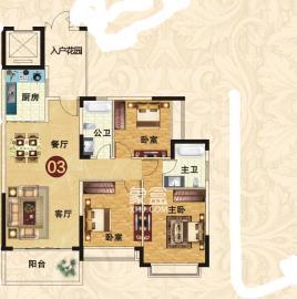 恒大城  3室2厅1卫    2500.0元/月