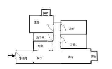 湘安小区  3室2厅1卫    50.0万
