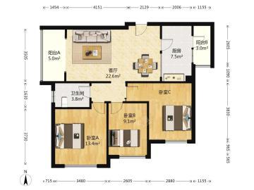 朗基龙堂  3室2厅1卫    240.0万