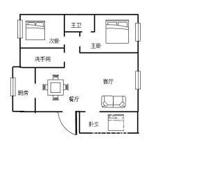 红旗广场 玫瑰名城 精装三房洋房4楼 拎包入住