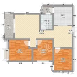 滨湖新天地  2室2厅1卫    90.0万