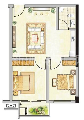 天济山庄(将爱公寓)户型图