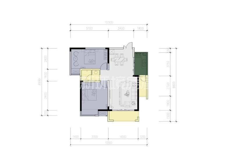 天平公寓(芙蓉区高级人民法院老宿舍)户型图